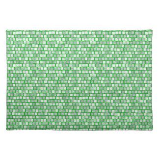 Skuggar av grönt kvadrerar bordstablett