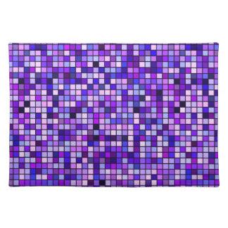 """Skuggar av lila druvasodavatten"""" kvadrerar mönster bordstablett"""