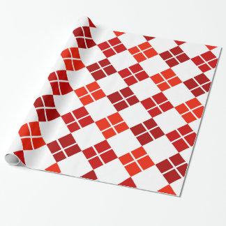 Skuggar av mönstrade röda Argyle slå in papper Presentpapper