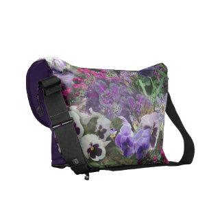 Shades of purple messenger bag