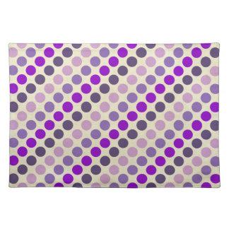 Skuggar av purpurfärgad polka dots bordstablett