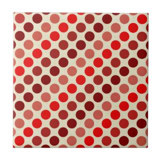 Skuggar av röd polka dots av Shirley Taylor Kakelplatta
