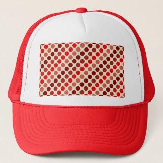 Skuggar av röd polka dots av Shirley Taylor Truckerkeps