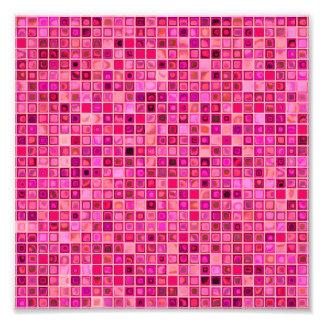 """Skuggar av rosa Watery"""" mosaik belägger med tegel  Fototryck"""