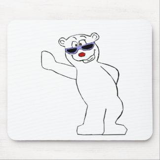 Skuggar den polara björnen för tecknaden med coola musmatta