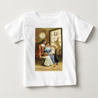 Skuggar den svart katthäxan för familjen hästskon t-shirt