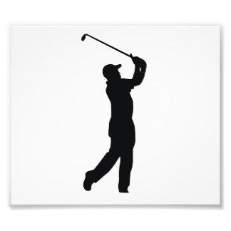 Skuggar den svart silhouetten för Golf Fotografiskt Tryck