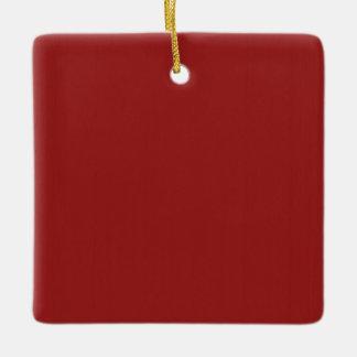Skuggar tomt rött för slätt DIY tillfogar Julgransprydnad Keramik