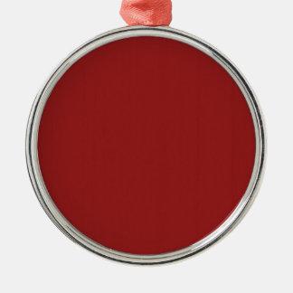 Skuggar tomt rött för slätt DIY tillfogar Julgransprydnad Metall