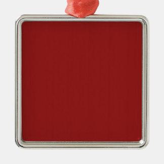 Skuggar tomt rött för slätt DIY tillfogar Silverfärgad Fyrkantigt Julgransprydnad