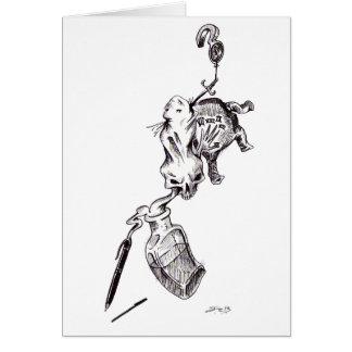 """""""Skulden"""" - skriva & bläck av Jeremy Charles Hälsningskort"""