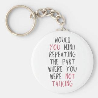 Skulle dig vara besvärad upprepa delen var du var rund nyckelring