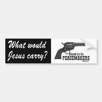 Skulle vad Jesus bär? Välsignad är fredsmäklaren Bildekal