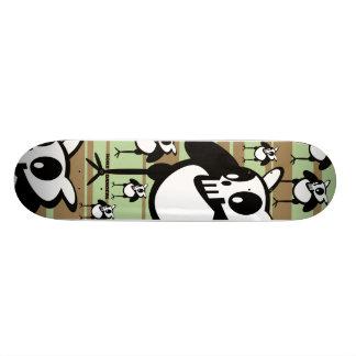 skullycolorboard skateboard bräda 20 cm