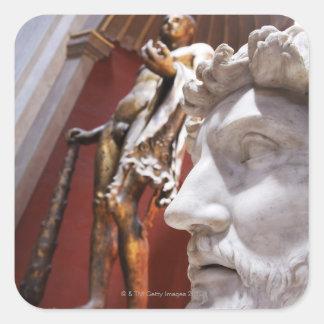 Skulpterar det inre Vatican museet, Vatican City, Fyrkantigt Klistermärke