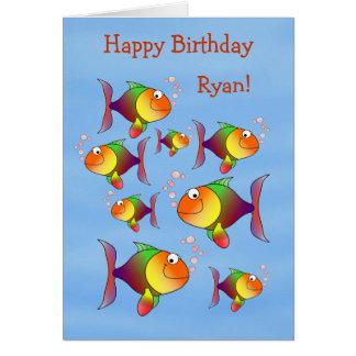 Skumt kort för födelsedag för roligtungepersonlig