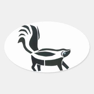 Skunked Ovalt Klistermärke