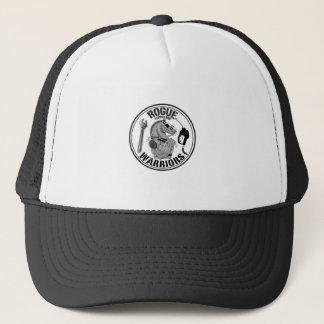 Skurk- hatt för krigare B&W Truckerkeps
