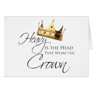 Skurkrollen är huvudet som ha på sig kronan hälsningskort