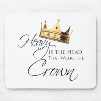 Skurkrollen är huvudet som ha på sig kronan musmatta