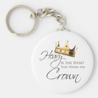 Skurkrollen är huvudet som ha på sig kronan rund nyckelring