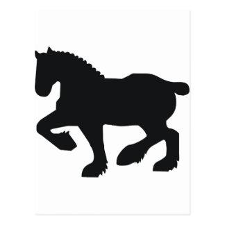 Skurkrollen formulerar hästen vykort