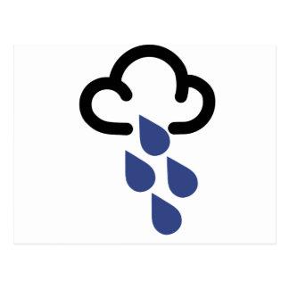 Skurkrollen regnar: Retro väderprognossymbol Vykort