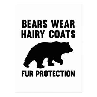Skydd för päls för lag för björnbära hårigt vykort