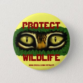Skydda djurlivtigerögon som grafik knäppas standard knapp rund 5.7 cm