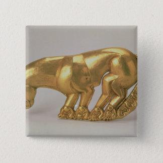 Skydda emblemen i form av en panter standard kanpp fyrkantig 5.1 cm