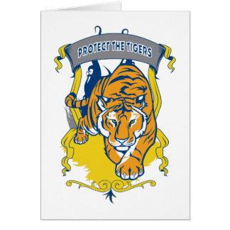 Skydda tigrarna hälsningskort
