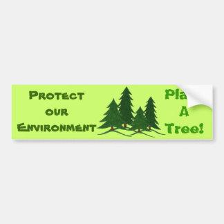 Skydda vår miljö - bildekal