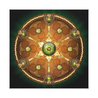 Skyddar den Celtic hövdingen för smaragden Canvastryck