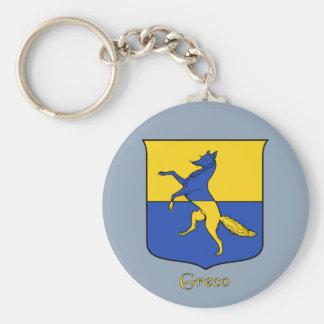 Skyddar det historiska Greco italienska Rund Nyckelring