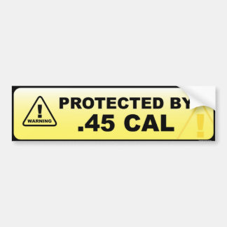 Skyddat .45 CAL Bildekal