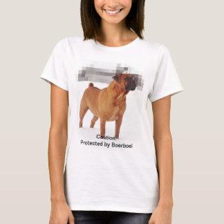 Skyddat av Boerboel kvinna T-tröja Tee