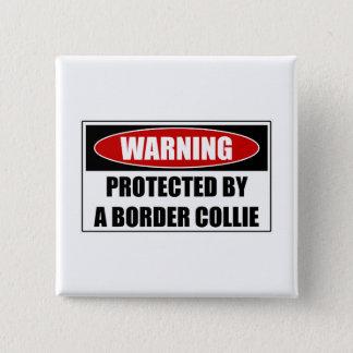 Skyddat av en gränsCollie Standard Kanpp Fyrkantig 5.1 Cm