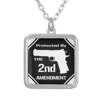 Skyddat av understödjarättelsen (svart) .png silverpläterat halsband