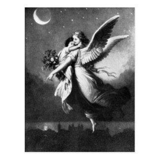 Skyddsängel på natten vykort