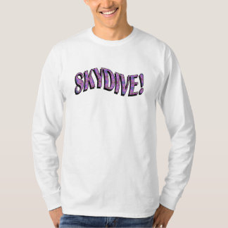 Skydive - ljusa mönster tee shirt
