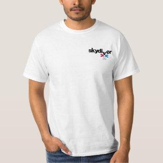 SKYDIVING-nöjesfältvarning undertecknar T-shirt