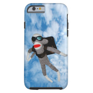 Skydiving Sockmonkey Tough iPhone 6 Fodral