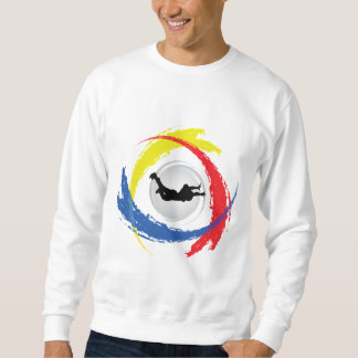 Skydiving Tricolor Emblem Sweatshirt