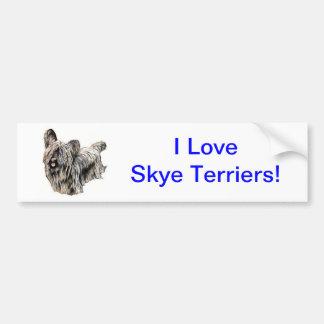 Skye Terrier Bildekal