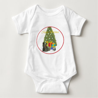 Skye Terrier på julgranen T-shirts