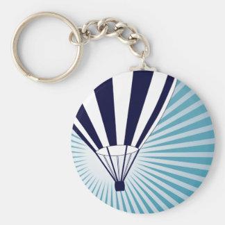 skyhög luftballong rund nyckelring