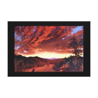 Skymning i Wilderness_Landscapesen Canvastryck