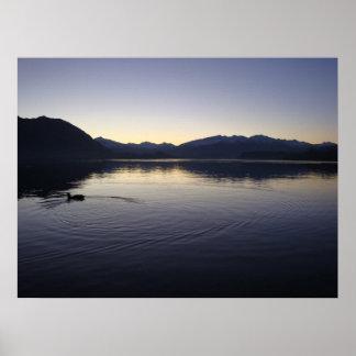 Skymning sjö poster