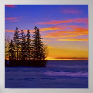 Skymning Sunset_ Poster