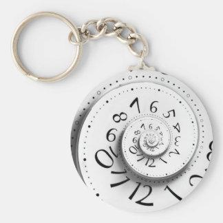 Skynda sig upp och fasta framåt Time Keychain Rund Nyckelring